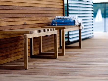 Cutter Holzbank von Skagerak aus Massivholz