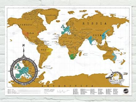 Die Luckies Scratch Map zeigt Ihre bisherigen Reiseziele