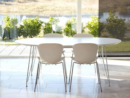DK10 Ausziehtisch Chrom von Andersen Furniture