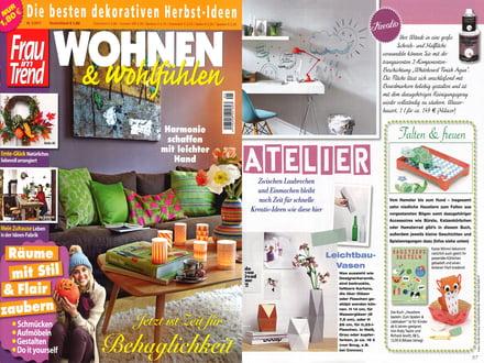 """Frau im Trend Wohnen & Wohlfühlen, Nr. 5/2017, S.57 """"Deko-Atelier"""" - Inhalt"""