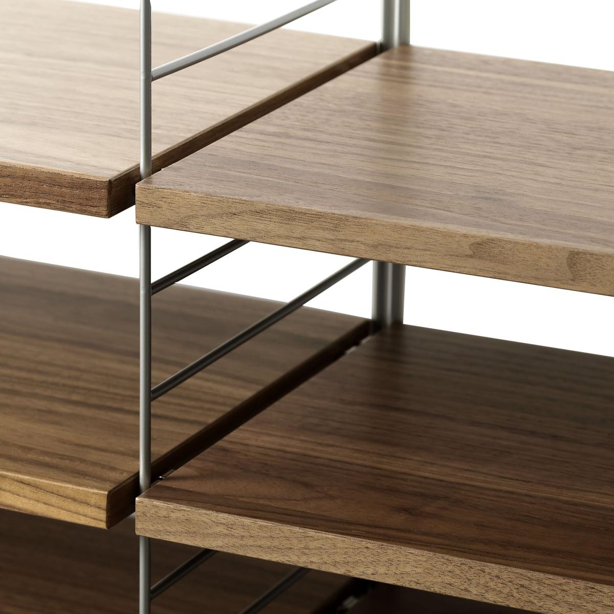 string regalsystem walnuss von string. Black Bedroom Furniture Sets. Home Design Ideas