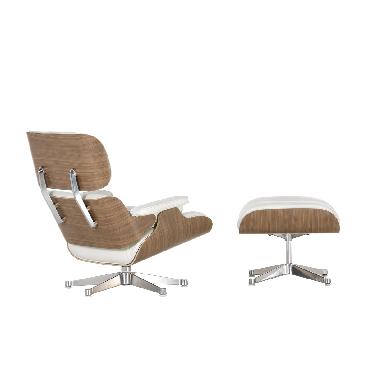 Vitra lounge chair ottoman nussbaum wei for Vitra lounge chair nachbau