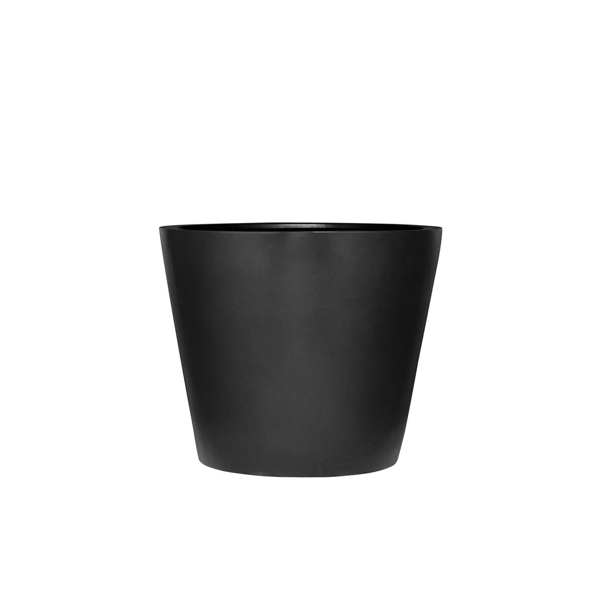 Der Runde Pflanzkübel schwarz von Amei