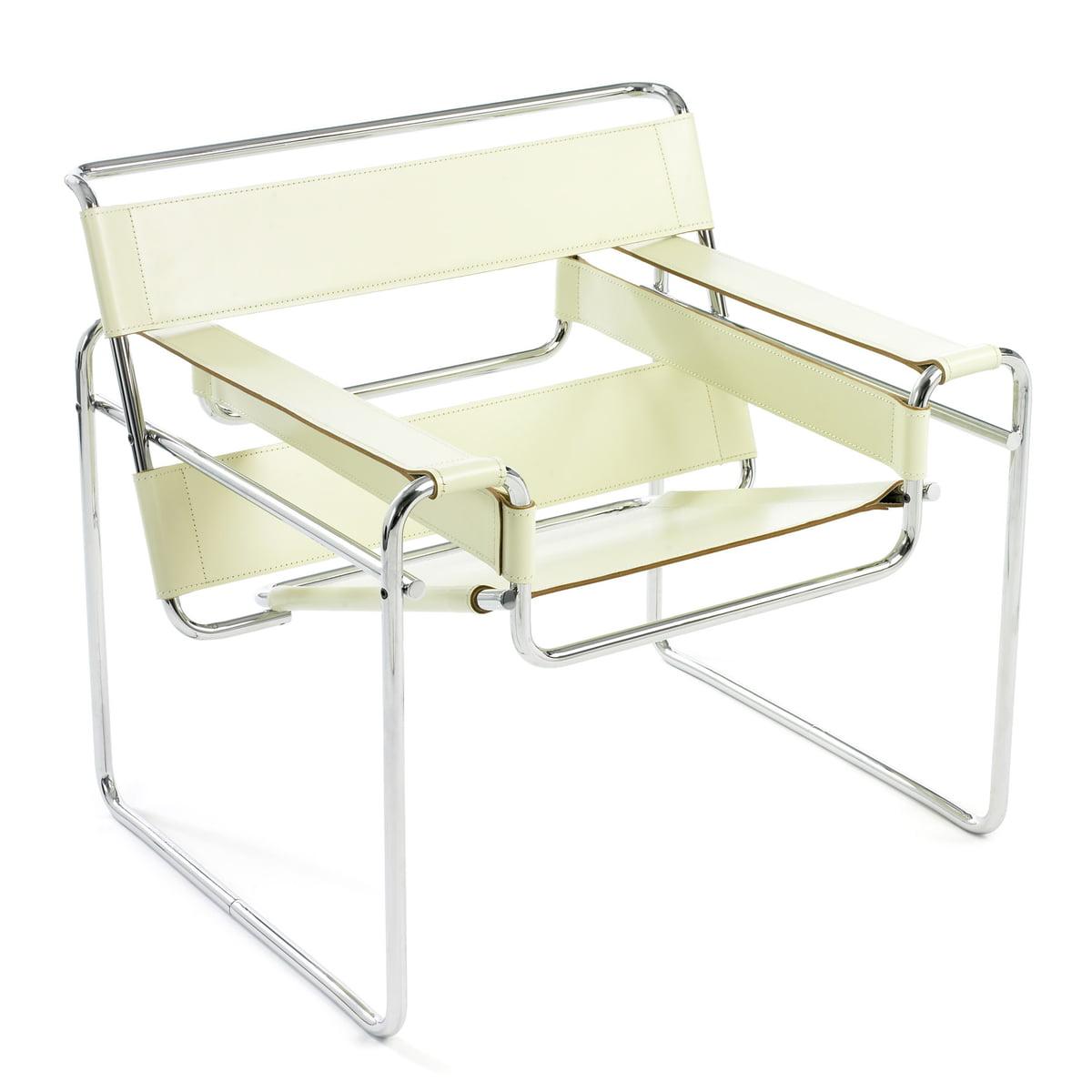 wassily stuhl leder von knoll connox. Black Bedroom Furniture Sets. Home Design Ideas