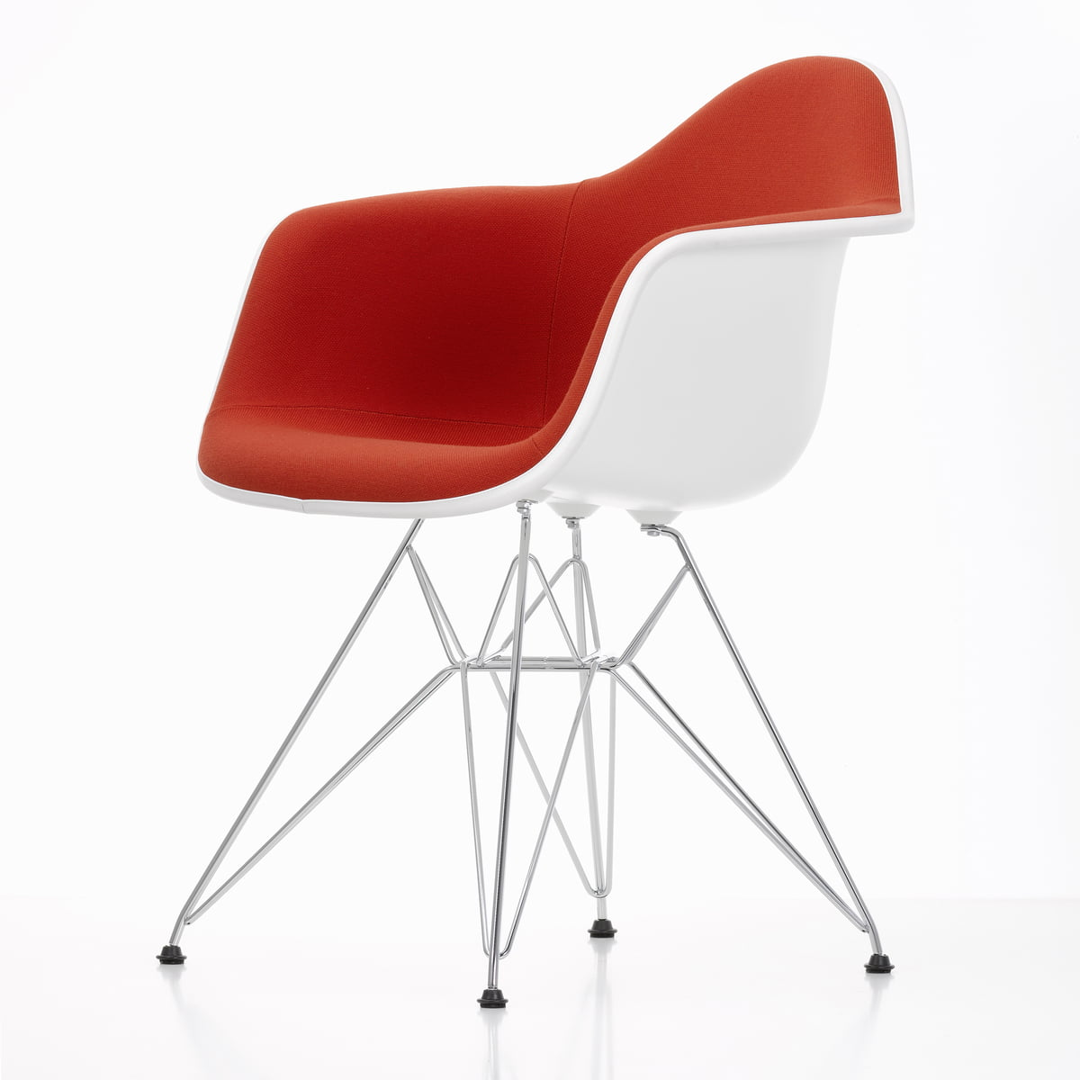 vitra eames plastic armchair dar vollpolster. Black Bedroom Furniture Sets. Home Design Ideas