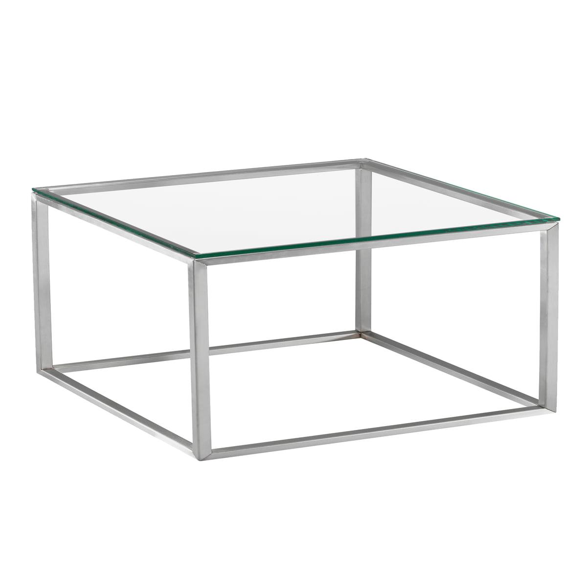 Hans Hansen - Less H 15 VA Couchtisch, Glasplatte (klar)