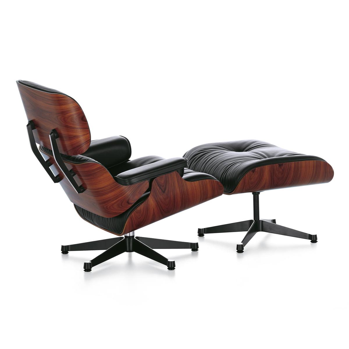 vitra lounge chair ottoman santos palisander - Eames Lounge Stuhl Abmessungen