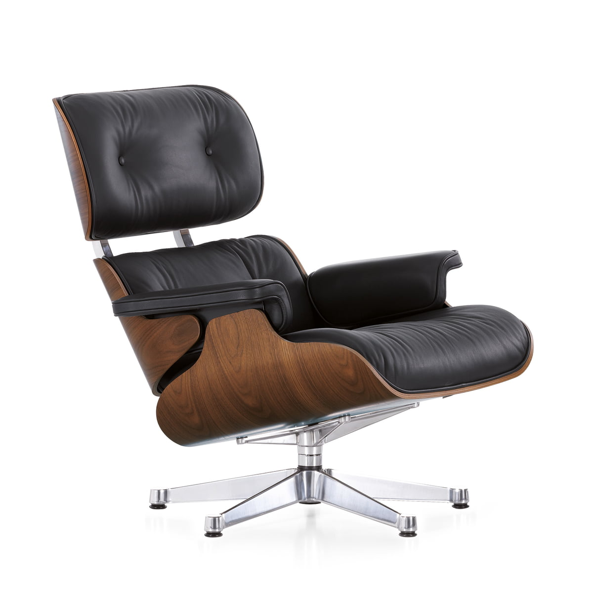 vitra lounge chair in nussbaum schwarz im shop. Black Bedroom Furniture Sets. Home Design Ideas