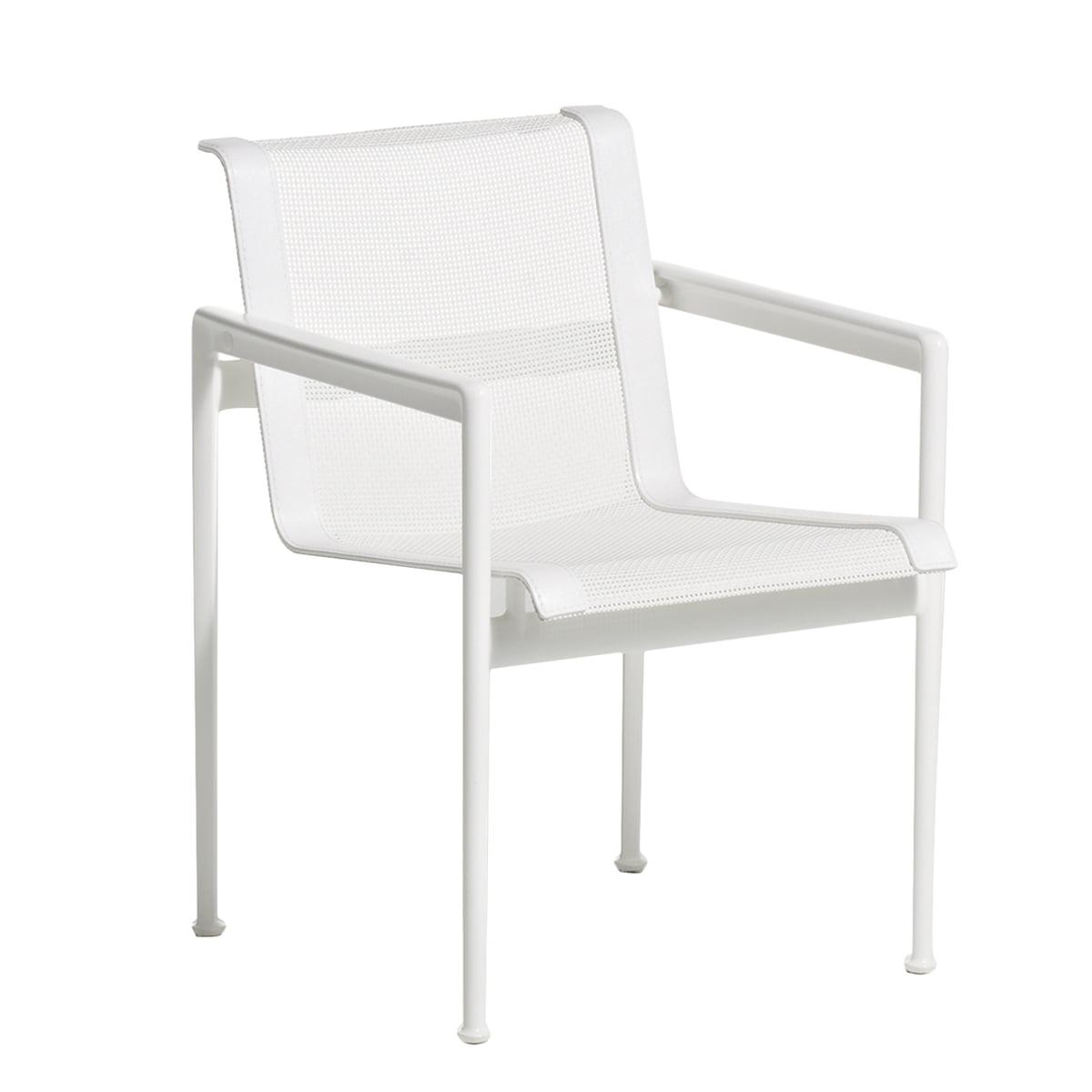 Wunderbar Esstischstuhl Weiß Referenz Von Knoll - 1966 Mit Armlehnen, Weiß