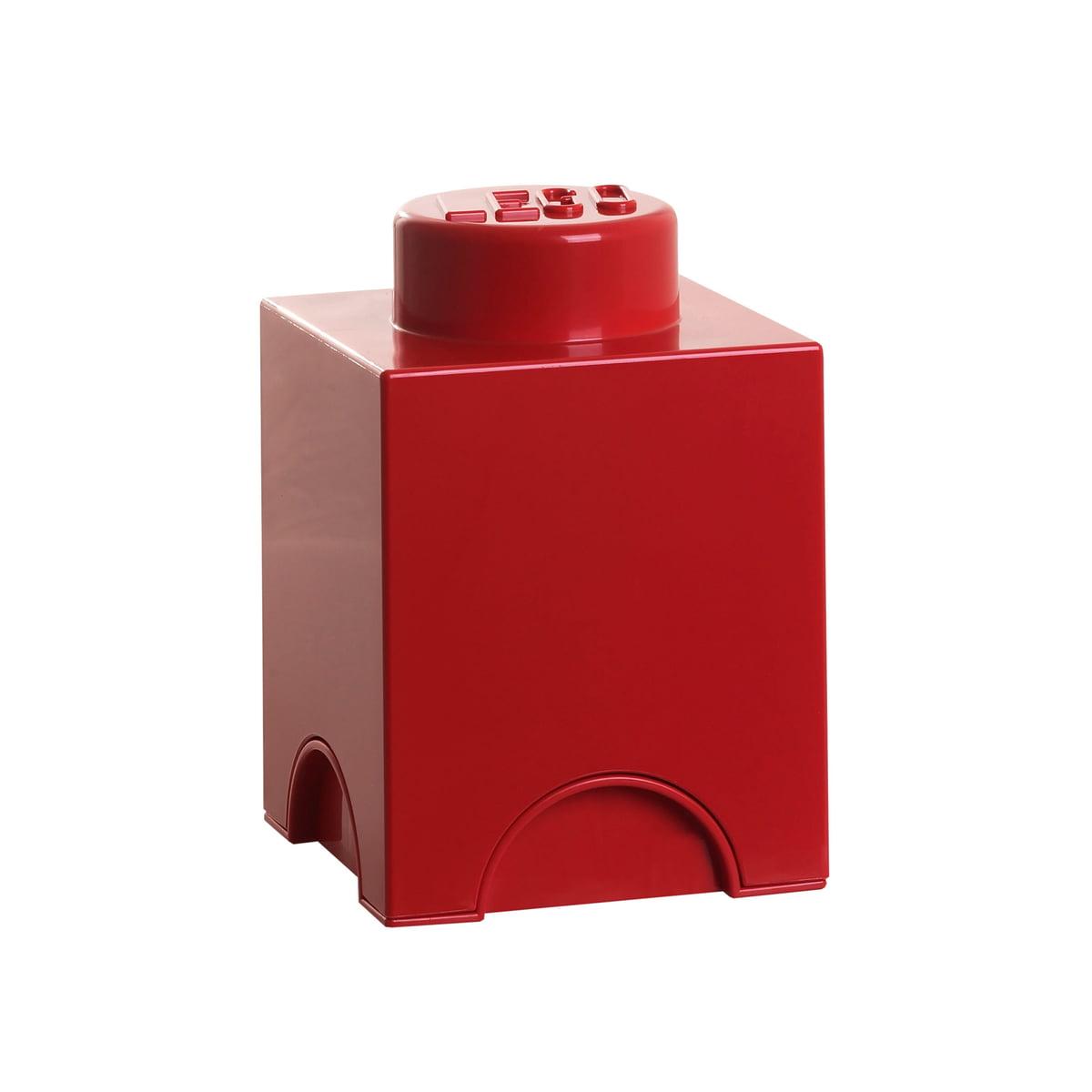 Lego   Storage Brick 1, Rot