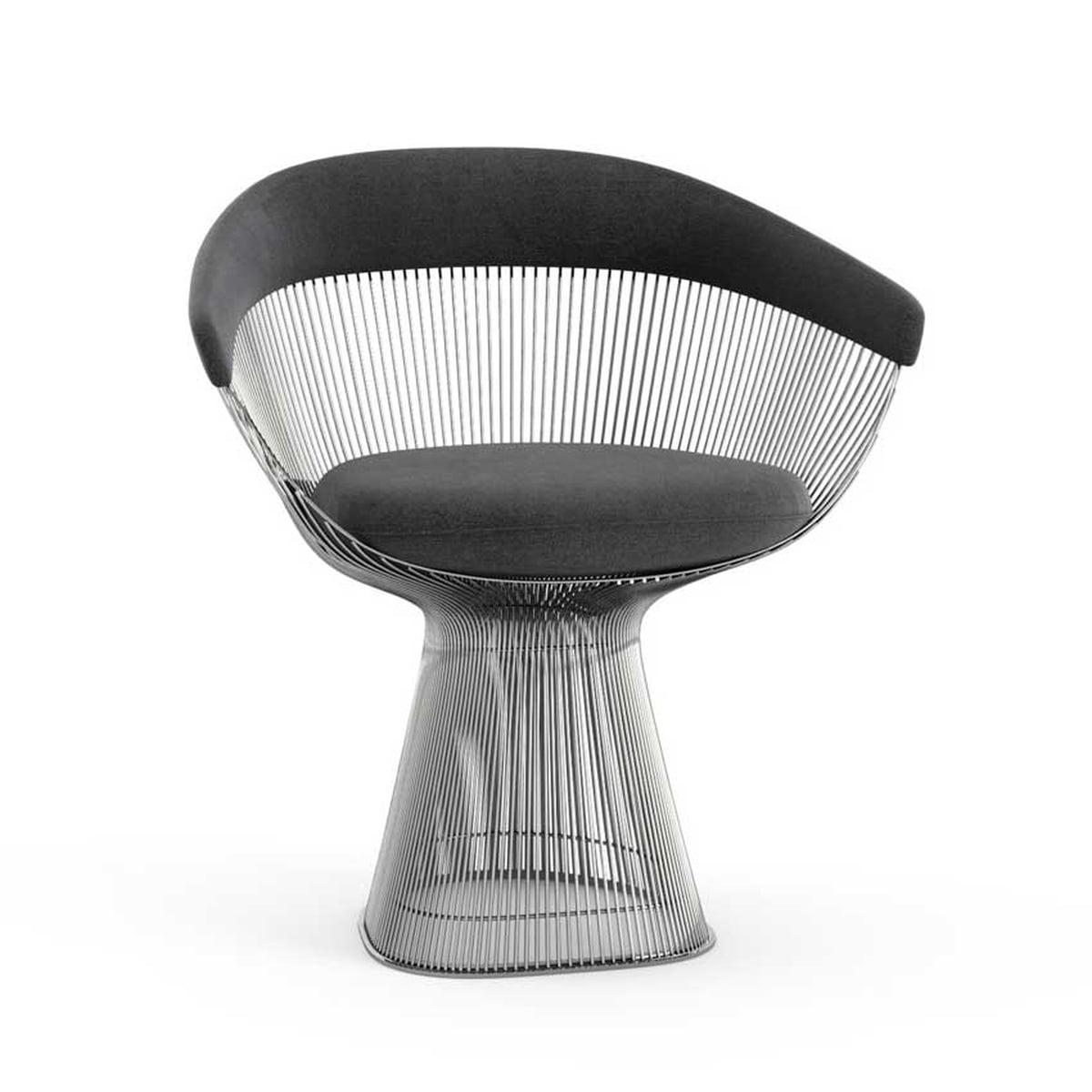 platner armlehnstuhl von knoll im design shop. Black Bedroom Furniture Sets. Home Design Ideas