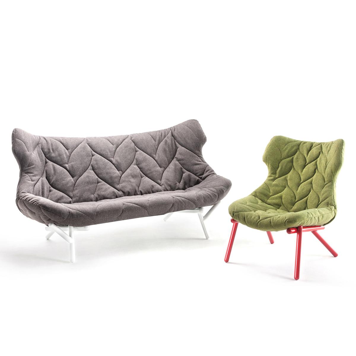 Sessel gezeichnet  Foliage Sofa von Kartell im Wohndesign-Shop