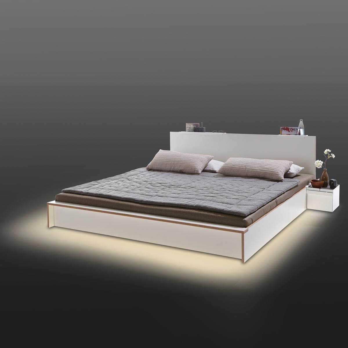 Led Beleuchtung Bett | Flai Bett Von Muller Mobelwerkstatten Shop