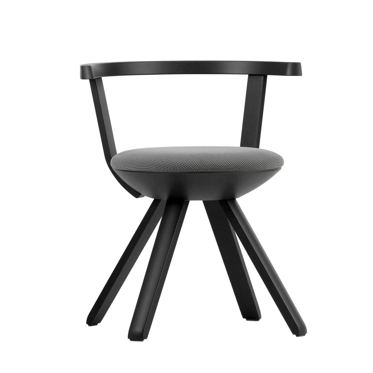 Schreibtischstuhl schwarz weiß  Rival Stuhl von Artek im Wohndesign-Shop