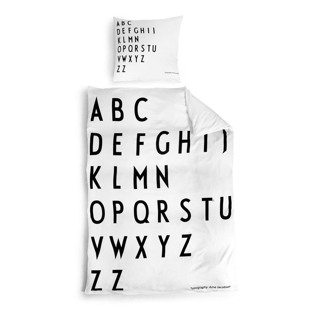 Bettwäsche Designer abc bettwäsche design letters im shop