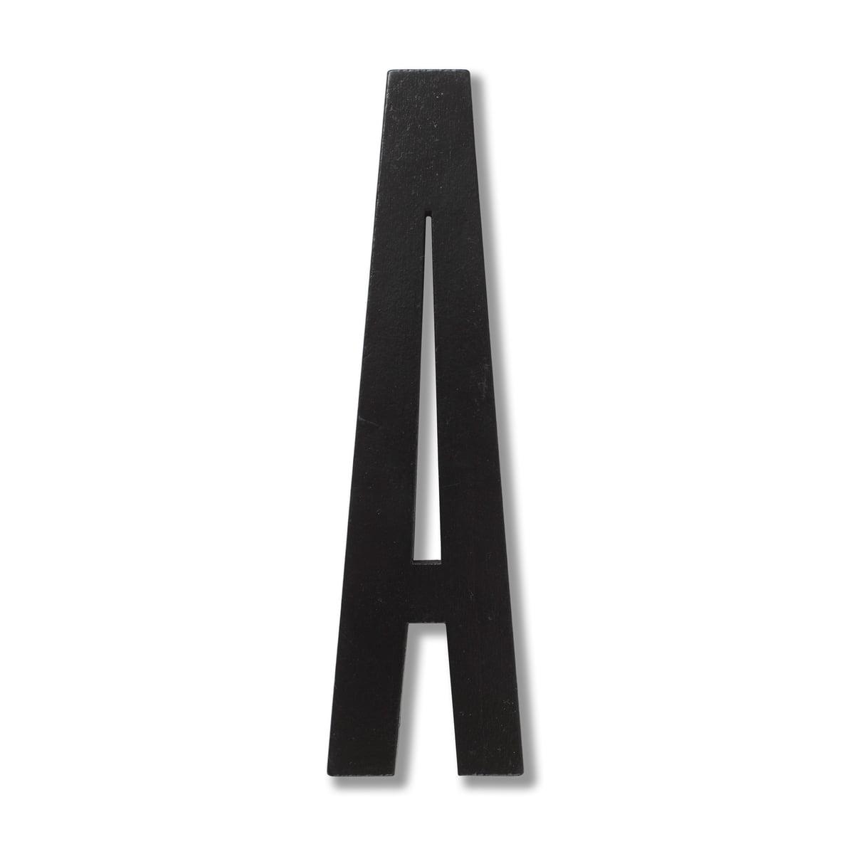 Holzbuchstaben Kinderzimmer Zum Aufstellen.Design Letters Wooden Letters Indoor A Schwarz