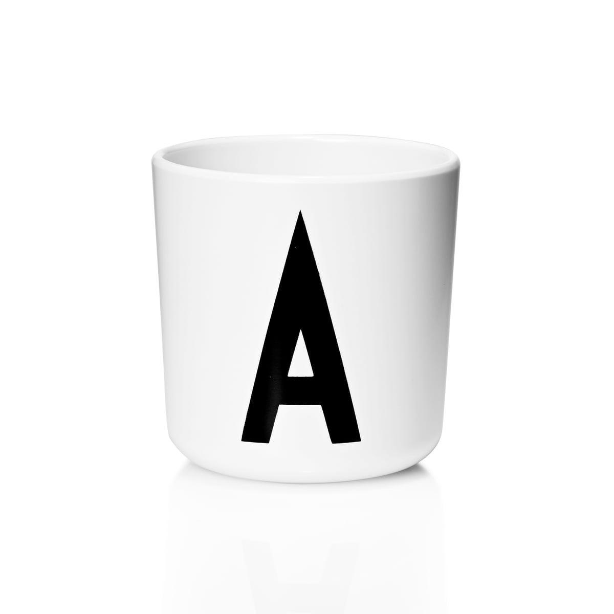 ABC Trinkbecher Buchstaben Arne Jacobsen Design Letters Melamin Becher