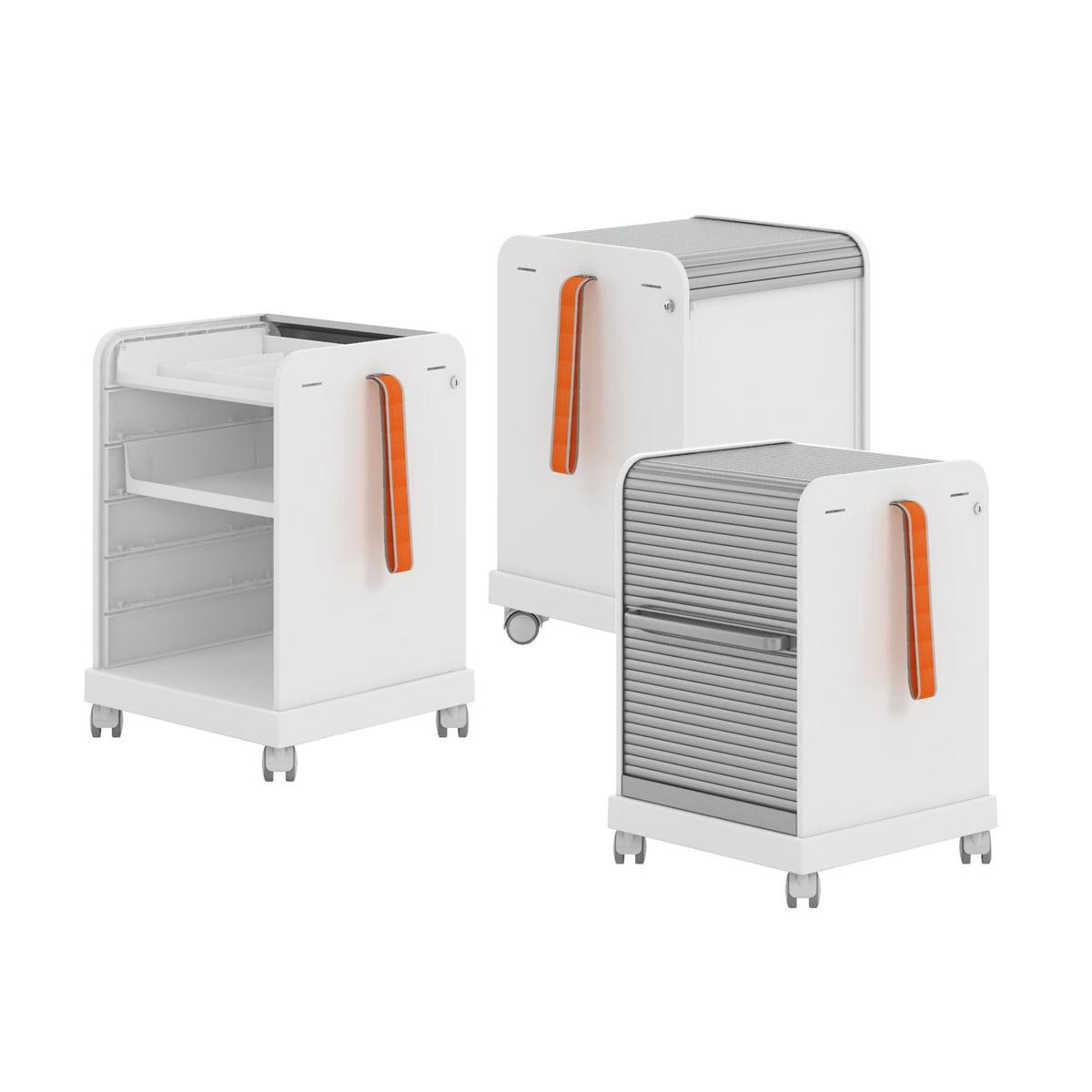 vitra ad hoc rollwagen mit schubfach kaufen. Black Bedroom Furniture Sets. Home Design Ideas