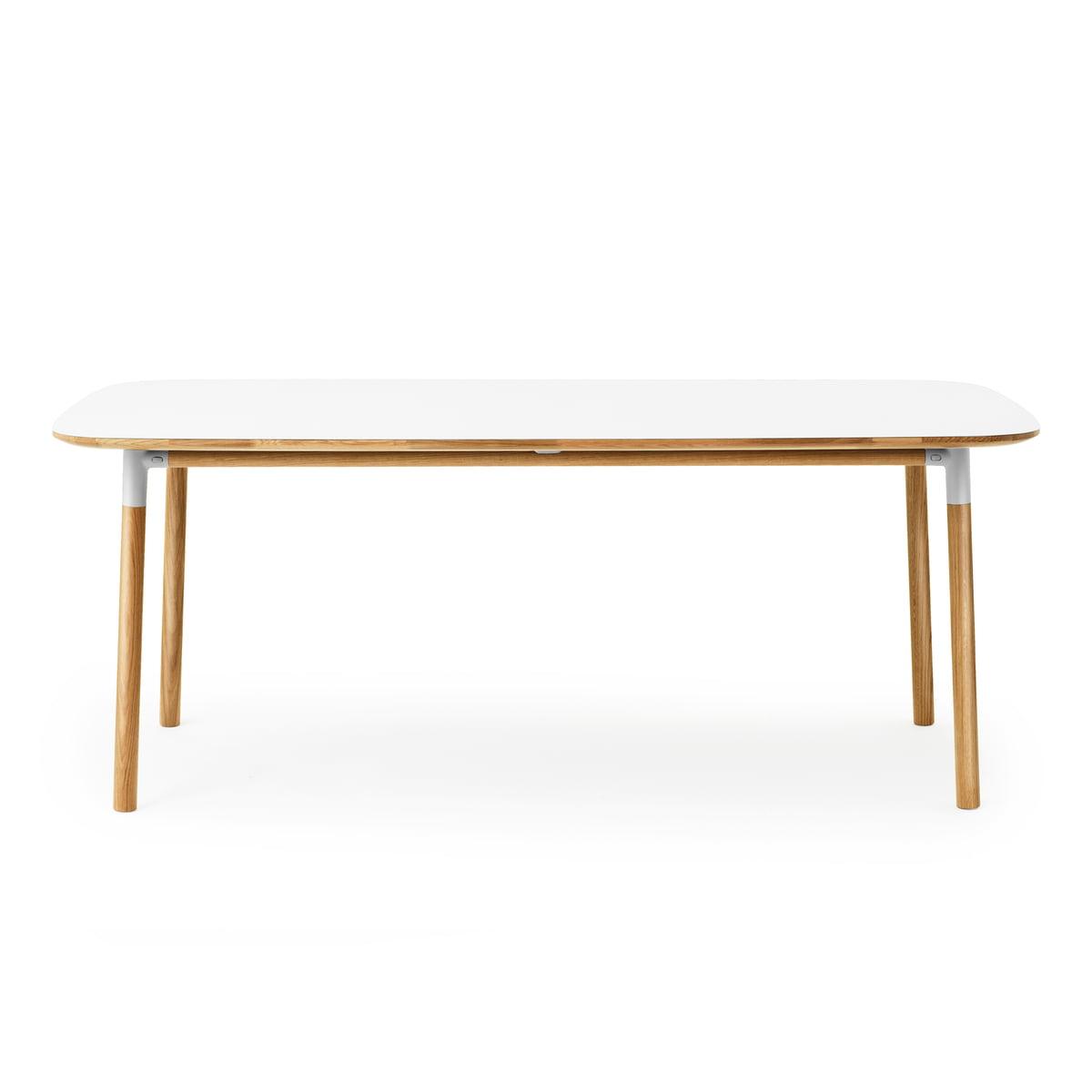 Normann Copenhagen Form Esstisch 95 x 200 cm, Eiche weiß