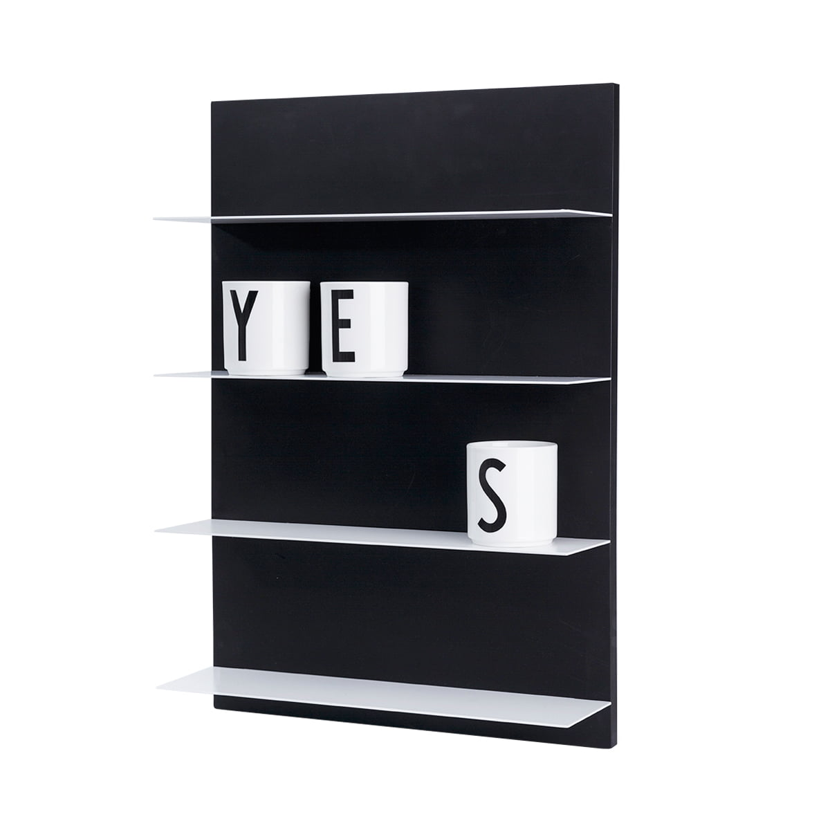 Paper Shelf Wandregal Schwarz A3 Design Letters
