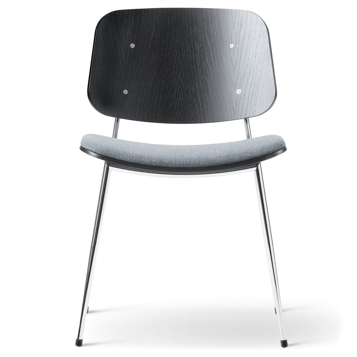 S borg stuhl model 3060 von fredericia for Stuhl mit metallbeinen