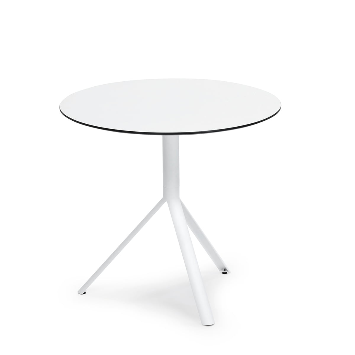 Tisch Rund 70 Cm Durchmesser.Weishäupl Trio Bistrotisch Rund ø 70 Cm Edelstahl Weiß Hpl Weiß
