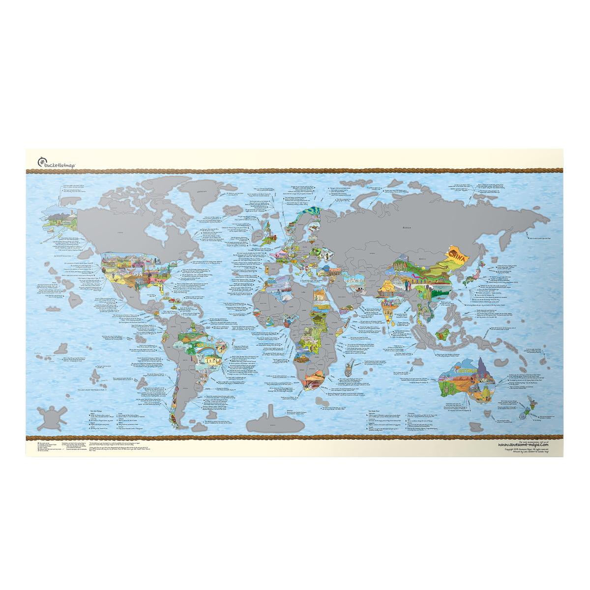 travelmap von awesome maps online kaufen. Black Bedroom Furniture Sets. Home Design Ideas