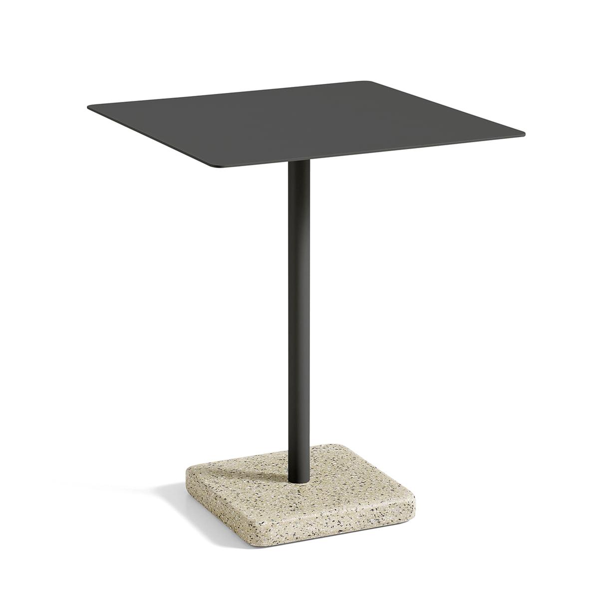 Terrazzo tisch quadratisch von hay im shop for Tisch schwarz