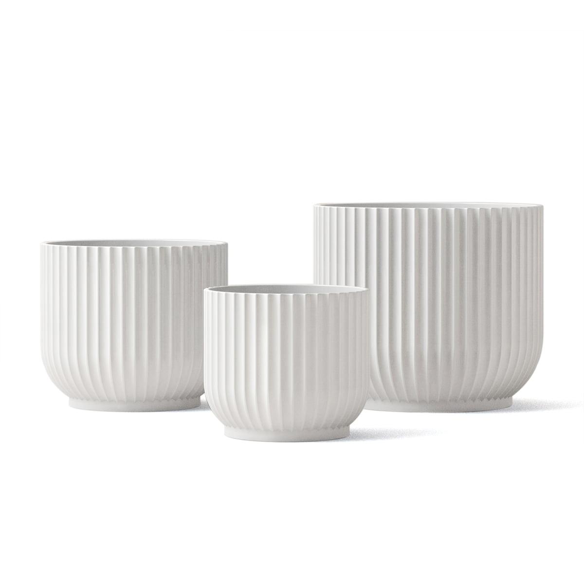 Lyngby Porcelæn Blumentopf Weiß S