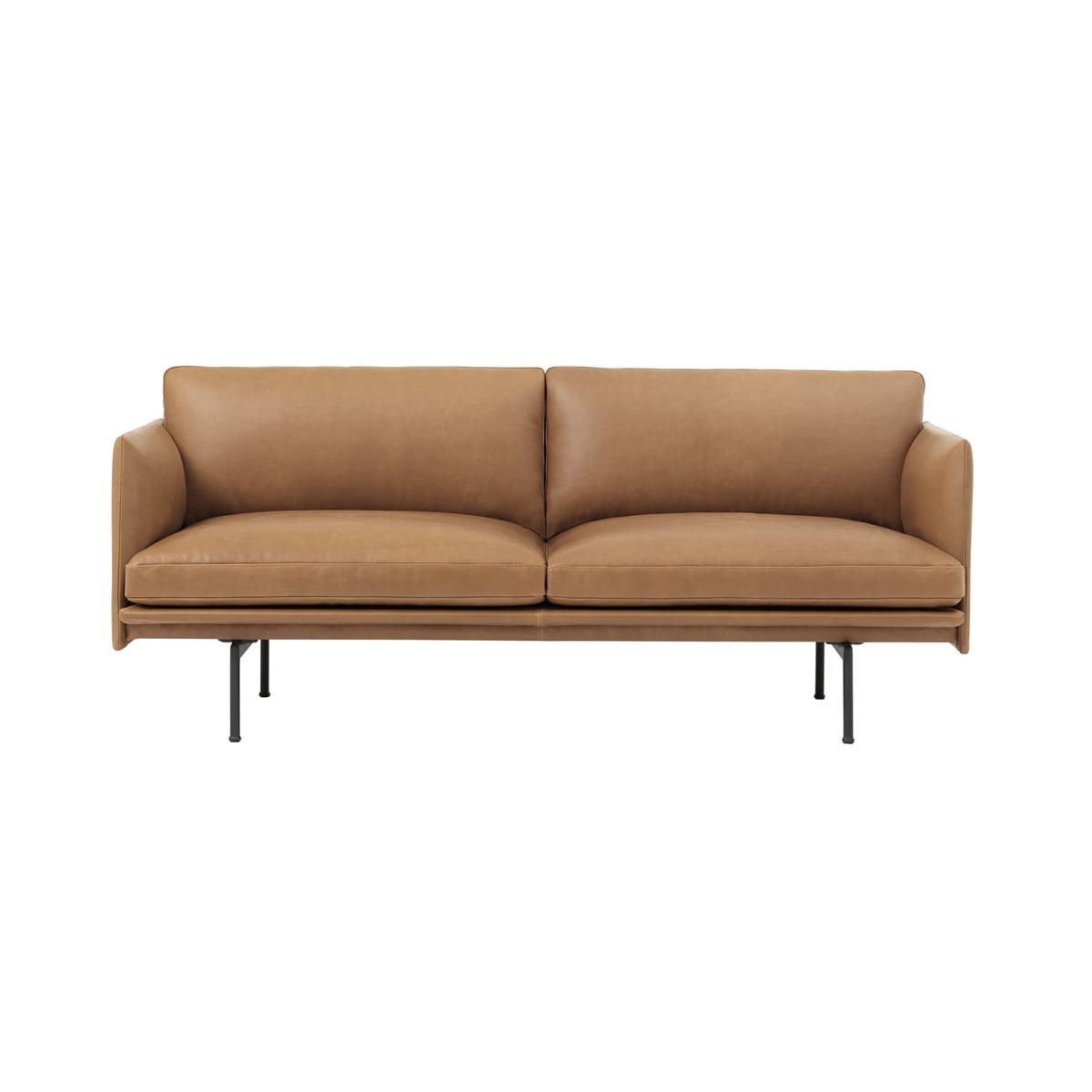 outline sofa 2 sitzer leder von muuto. Black Bedroom Furniture Sets. Home Design Ideas