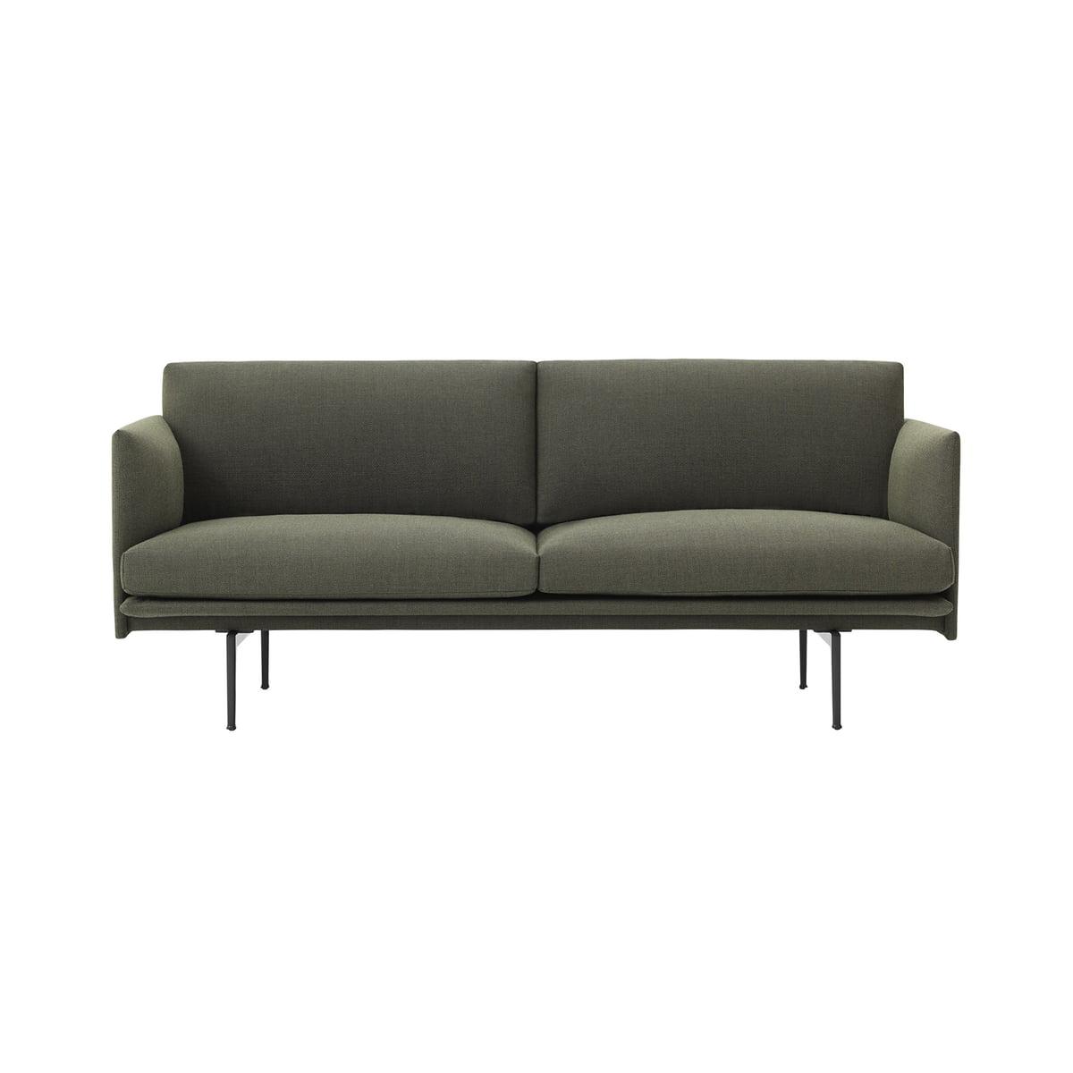 Fabelhaft Sofa Grün Dekoration Von Outline 2-sitzer Von Muuto In Grün