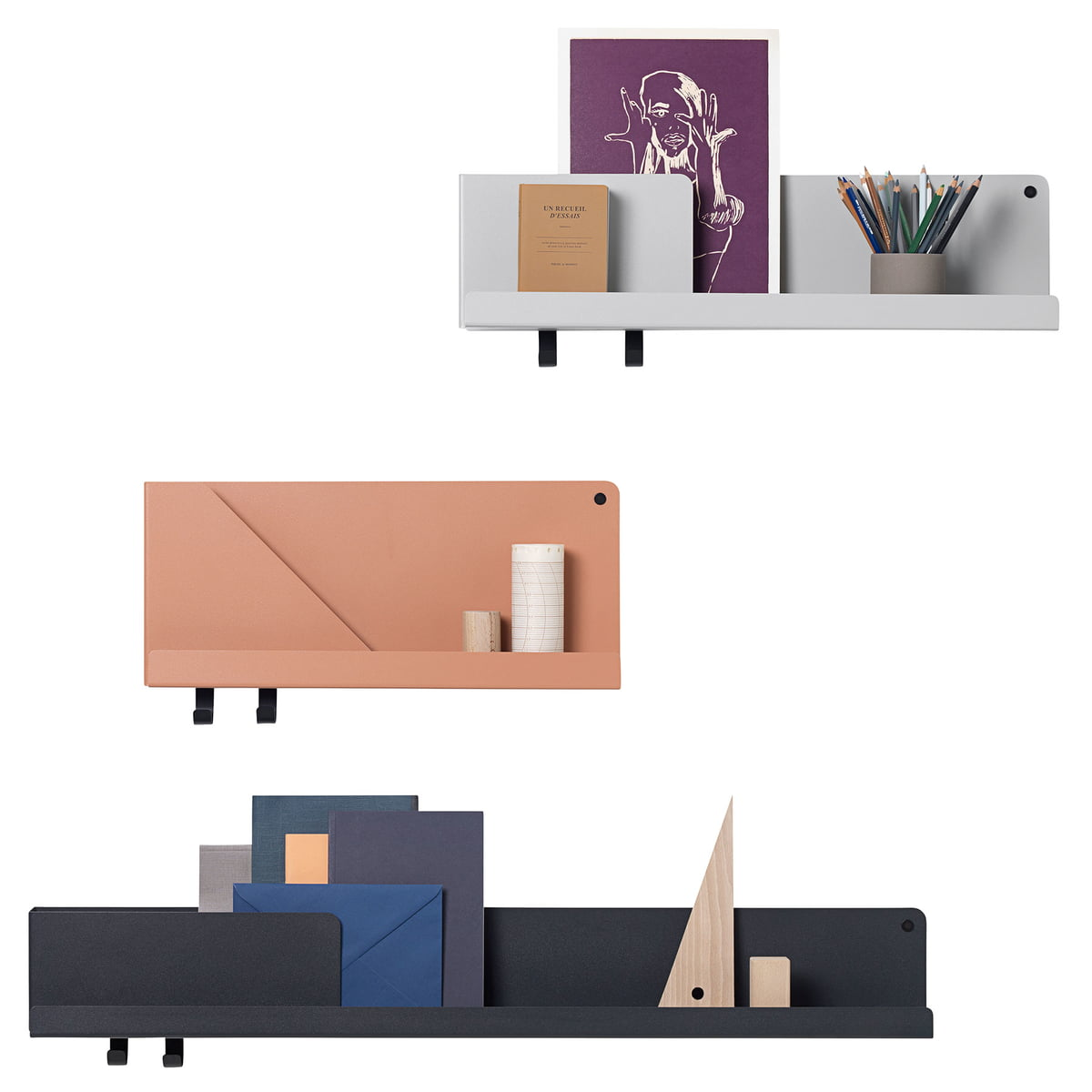 folded shelve in medium von muuto connox. Black Bedroom Furniture Sets. Home Design Ideas