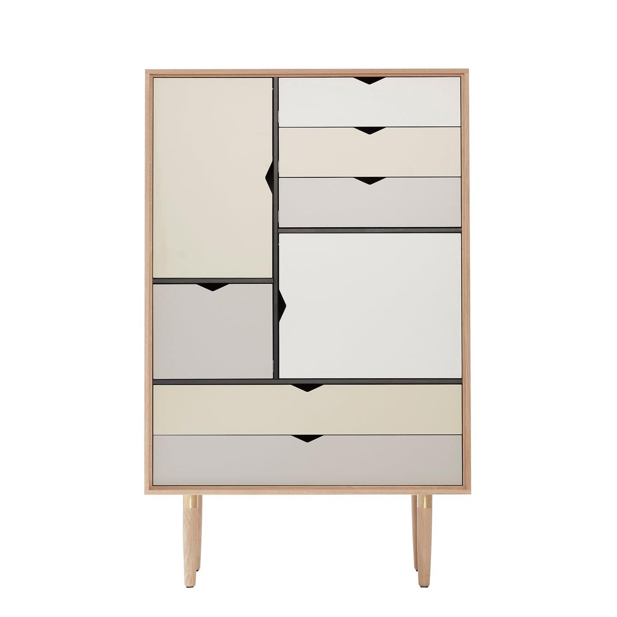 S5 Kommode Von Andersen Furniture In Eiche Geseift (Fronten Silber, Beige,  Metallgrau)