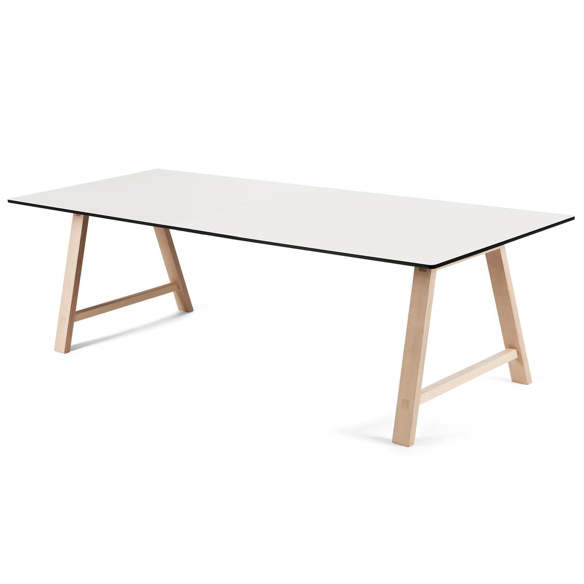 Ausziehtisch weiß  T1 Ausziehtisch 220 cm von Andersen Furniture