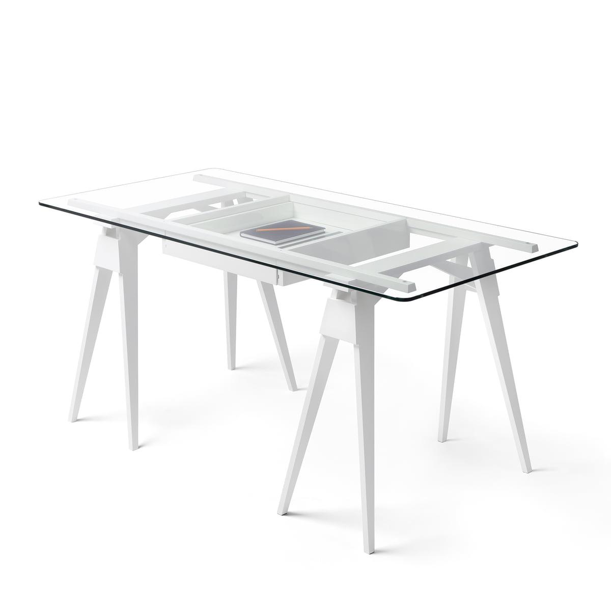 Schreibtischplatte weiß  Arco Schreibtisch von Design House Stockholm | Connox