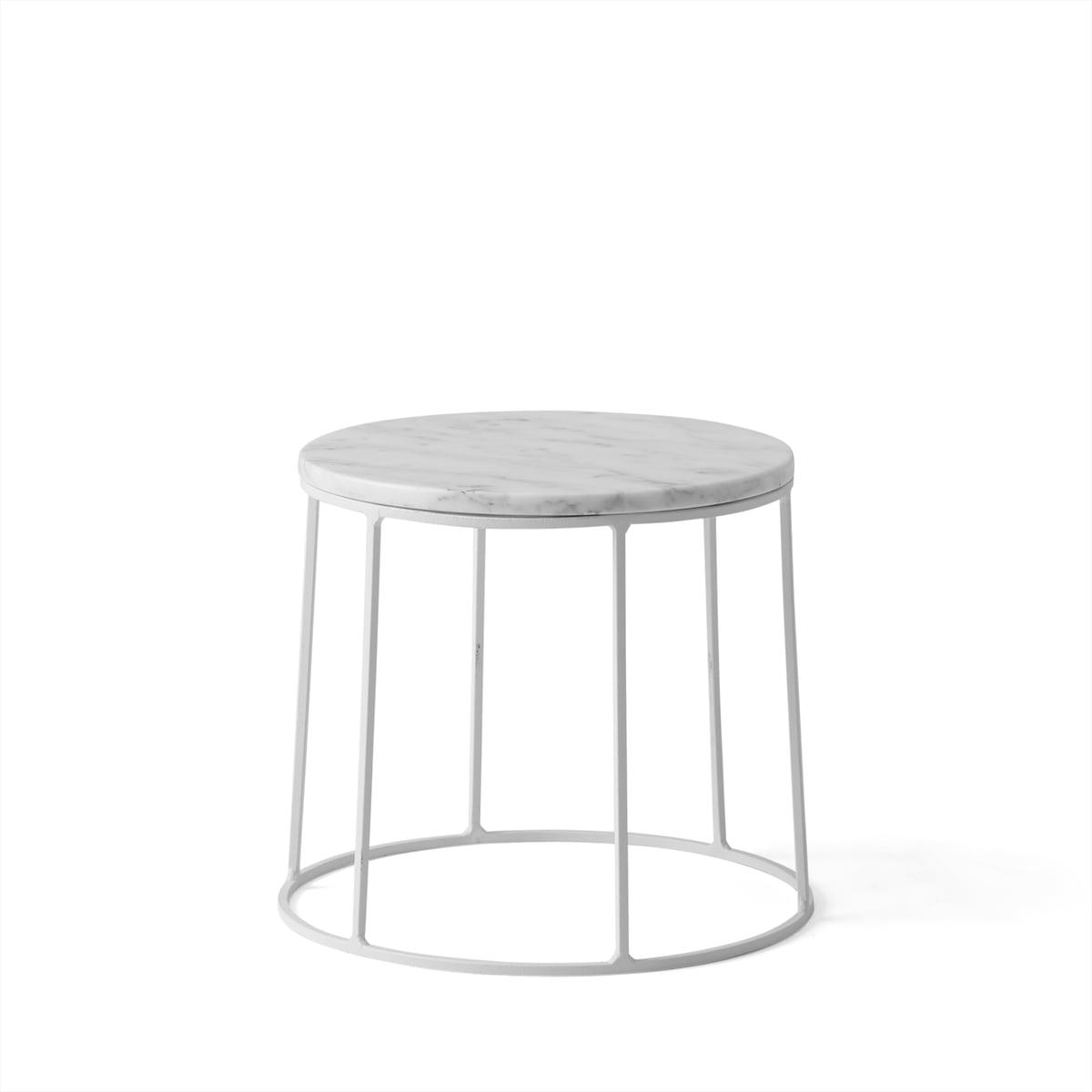 Wire base von menu im wohndesign shop for Marmor tischplatte oval