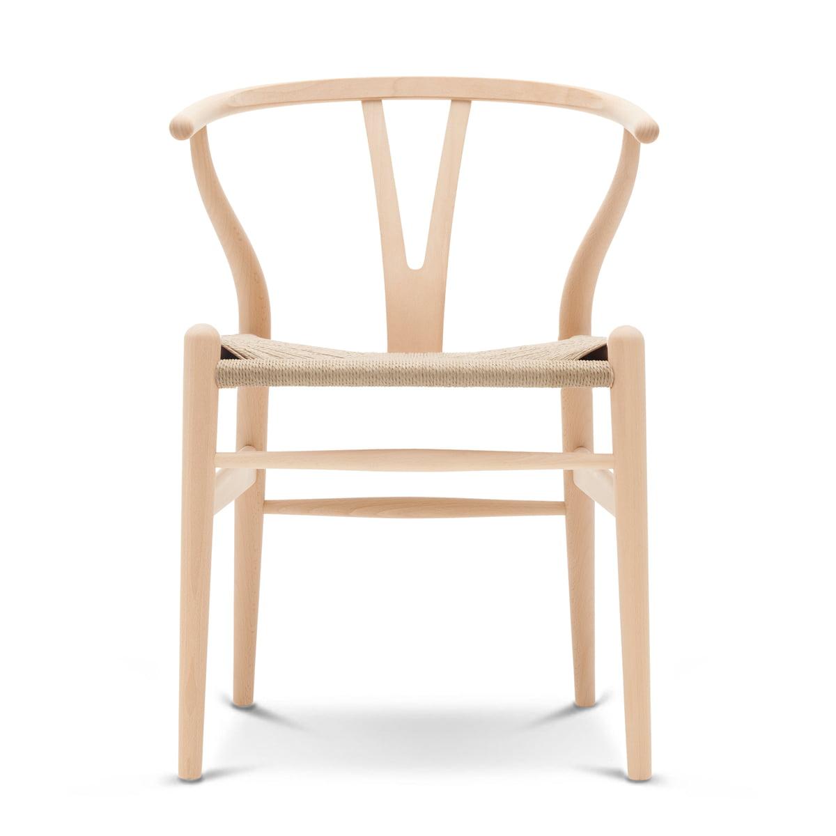 Attraktiv CH24 Wishbone Chair Von Carl Hansen In Buche Geseift / Naturgeflecht