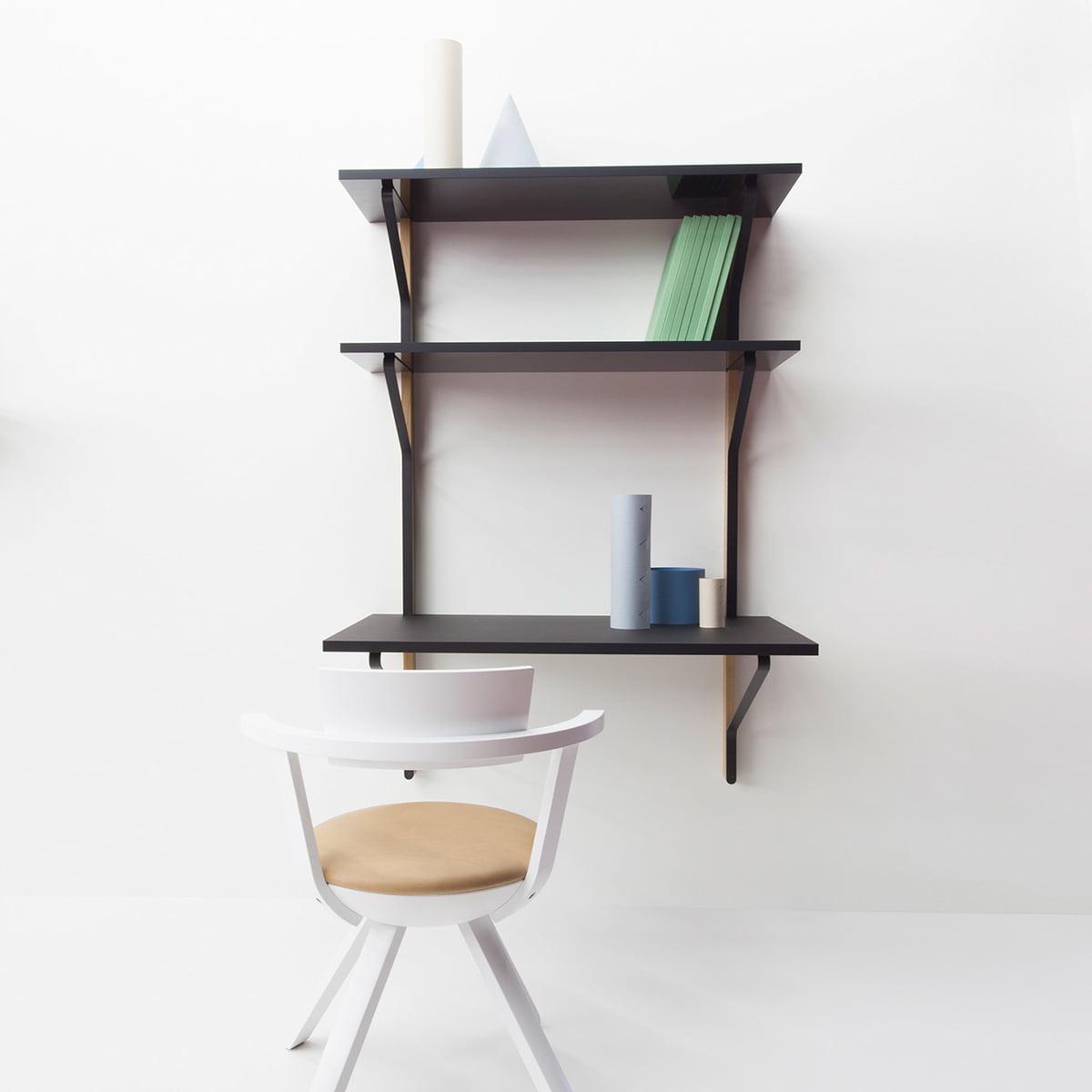 Wandregal Mit Schreibtisch Kaari Von Artek