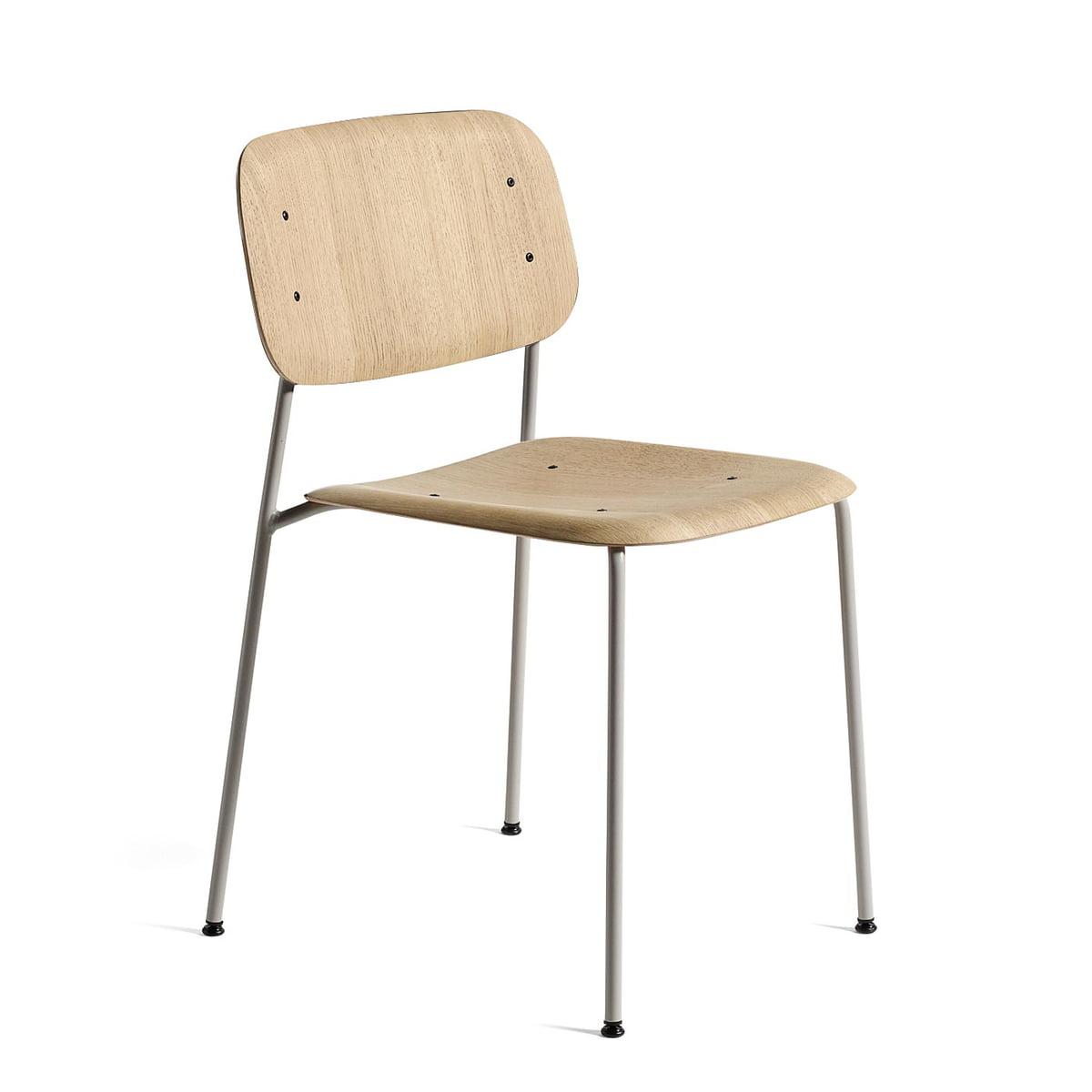 Hay Soft Edge 10 Stuhl, Eiche matt lackiert schwarz