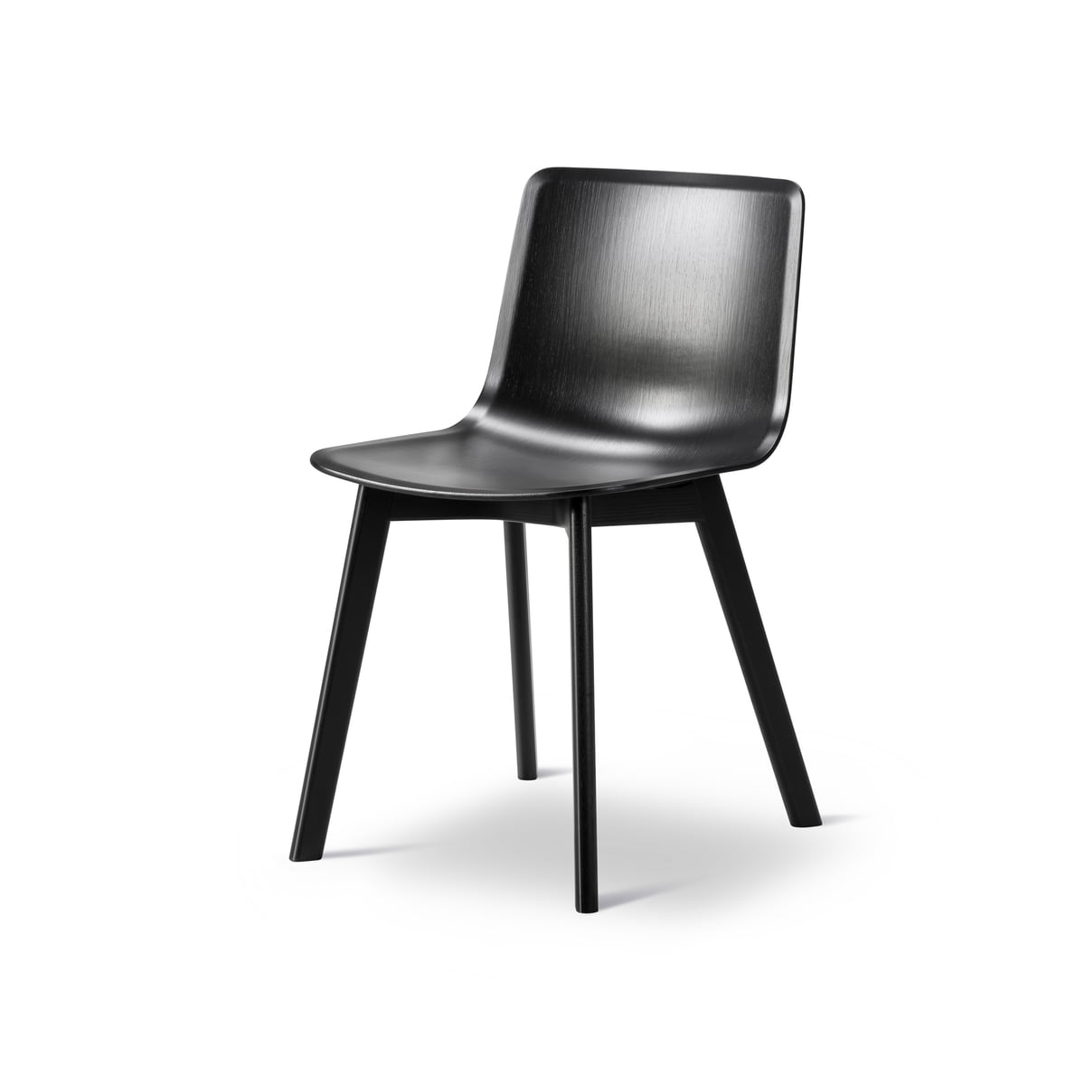 Pato stuhl furnier holz von fredericia for Stuhl schwarz holz