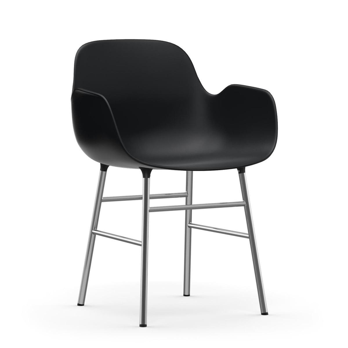 chrom stuhl form von normann copenhagen. Black Bedroom Furniture Sets. Home Design Ideas