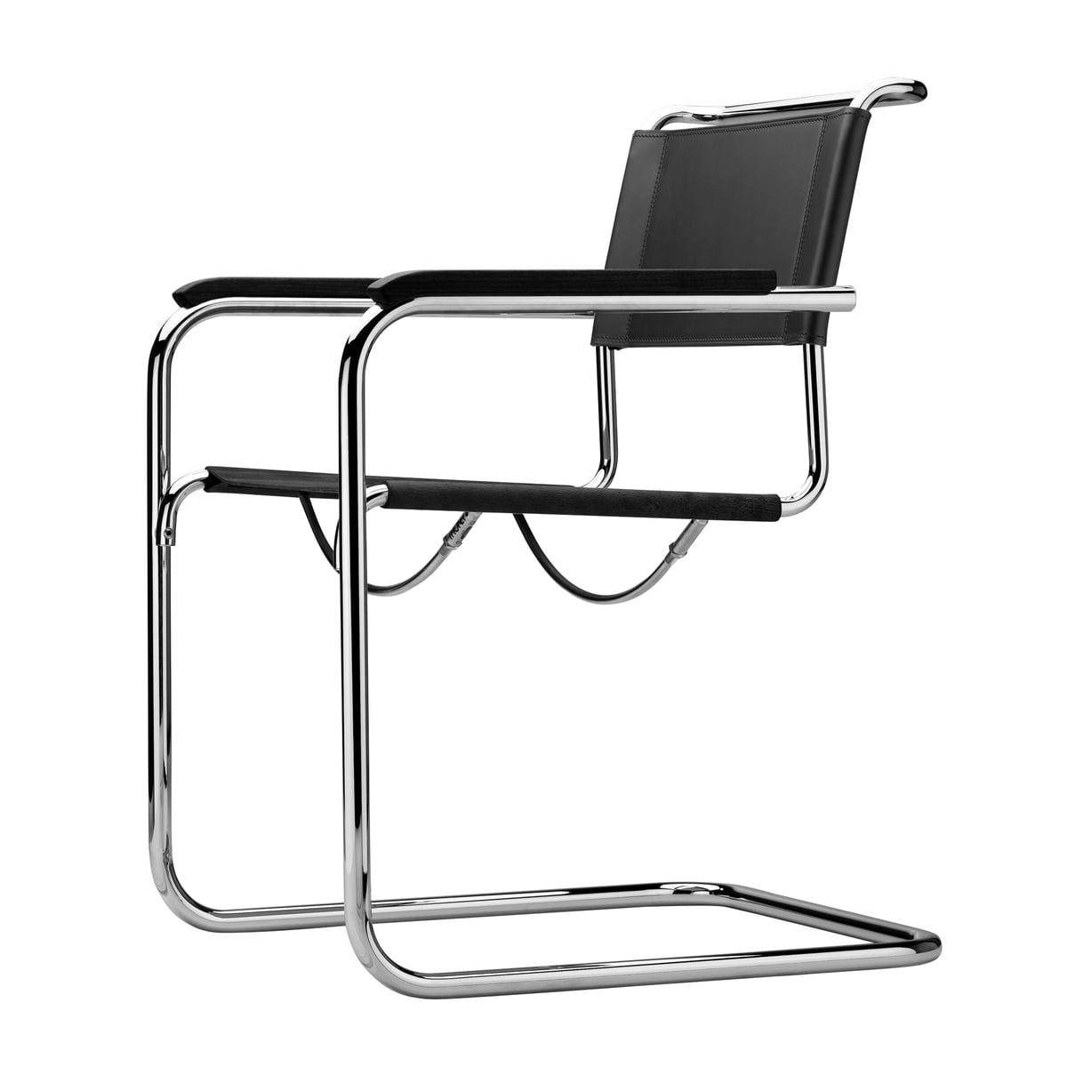 S 34 armlehnstuhl von thonet connox shop for Stuhl designgeschichte