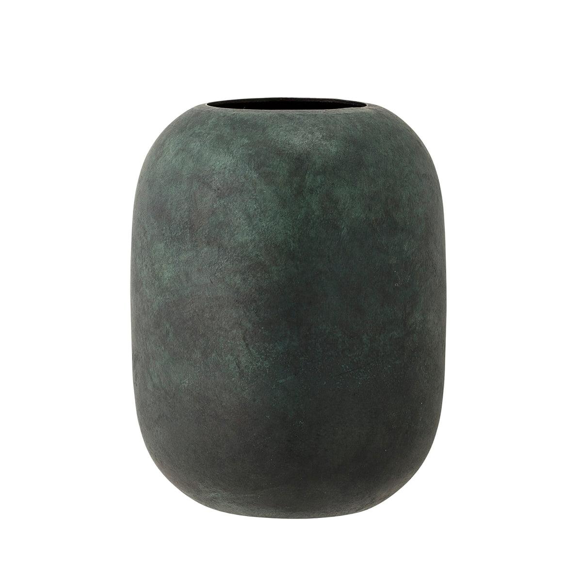 Die Bloomingville   Metall Vase, H 18 Cm In Grün