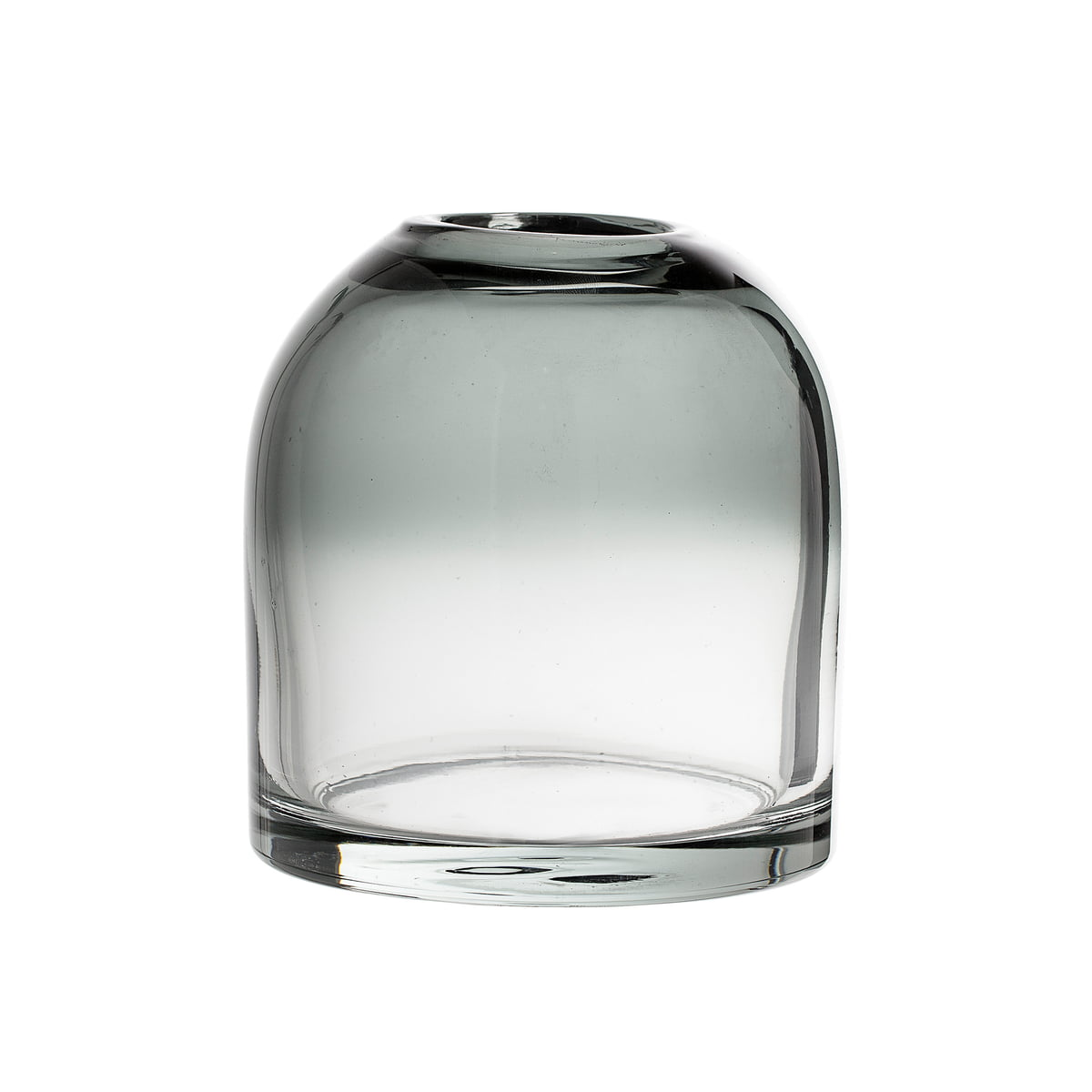 Bloomingville   Glas Vase H 20 cm, grau