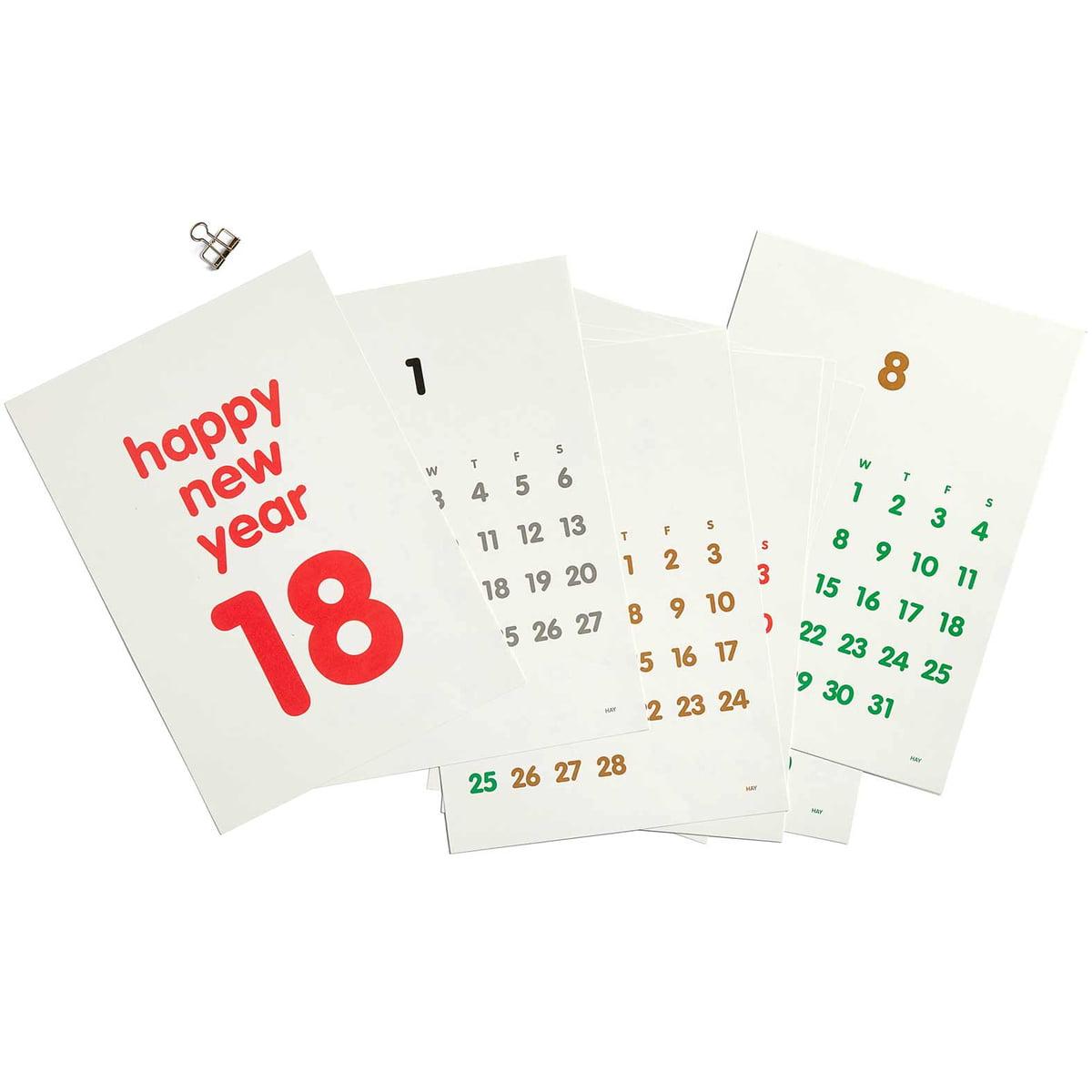 clip kalender 2018 von hay connox shop. Black Bedroom Furniture Sets. Home Design Ideas