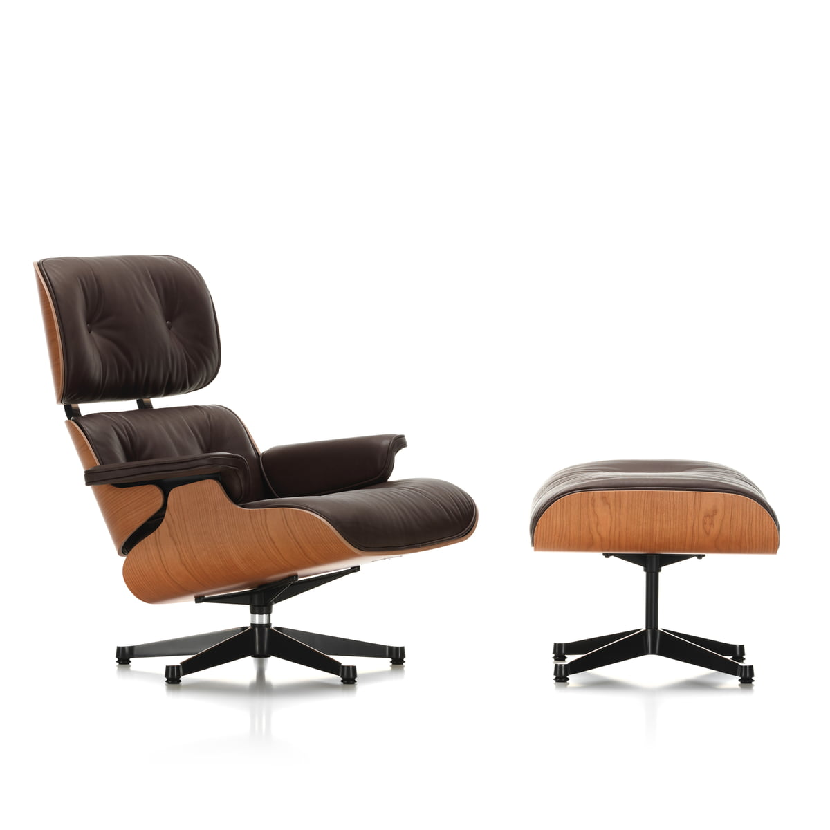 vitra lounge chair ottoman kirschbaum. Black Bedroom Furniture Sets. Home Design Ideas