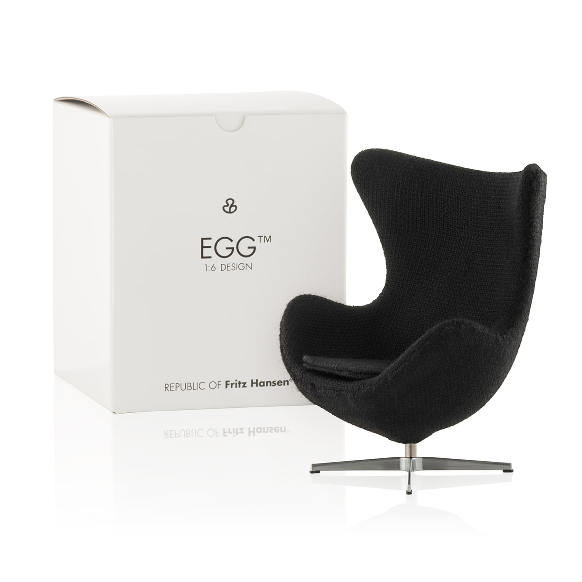 miniatur ei sessel von fritz hansen connox. Black Bedroom Furniture Sets. Home Design Ideas