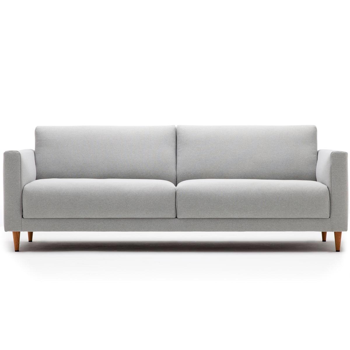Perfekt 141 Sofa 3 Sitzer, L 190 Cm Von Freistil Mit Kegelfuß Eiche Natur /