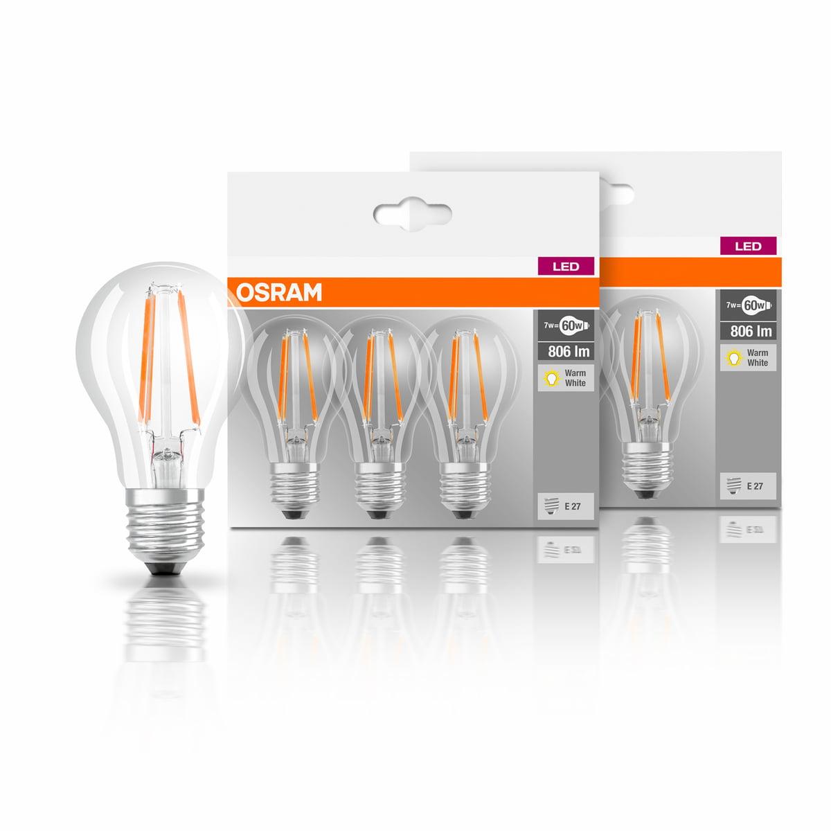 led base filament 6er set von osram connox. Black Bedroom Furniture Sets. Home Design Ideas