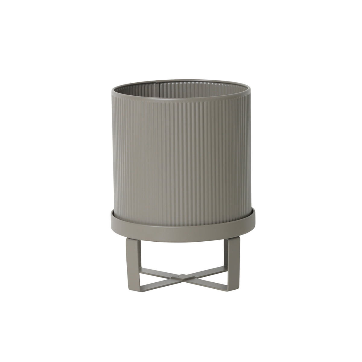 Bau Pflanztopf, Ø 18 X H 24 Cm Von Ferm Living In Warm Grau